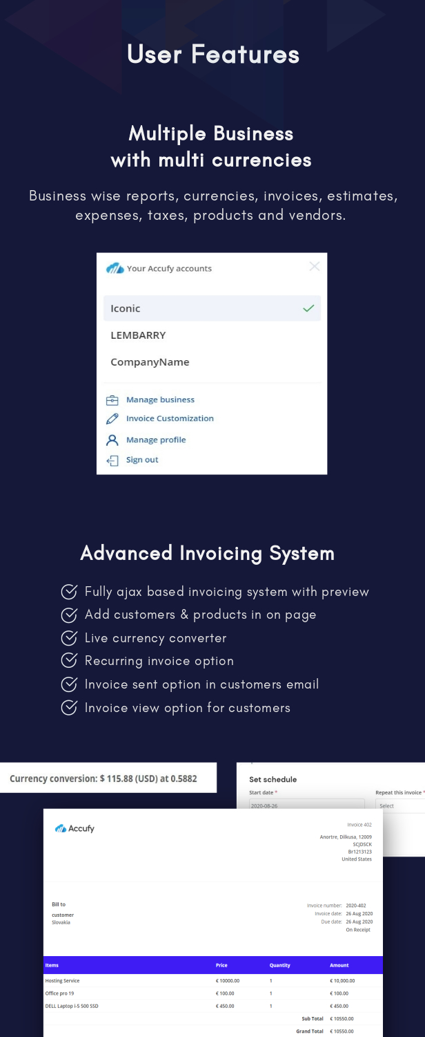 Accufy - SaaS Business & Accounting Software - 8